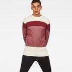G-Star RAW® Block Stripe Knit Red model front