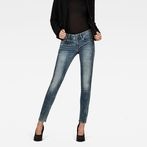 G-Star RAW® Lynn Mid Waist Skinny Jeans Light blue model front