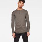 G-Star RAW® Korpaz Slim Granddad T-Shirt Grey model front