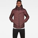 G-Star RAW® Attacc Hooded Overshirt Purple model front