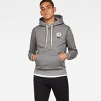 G-Star RAW® Graphic 16 Core Hooded Sweat Grey model front