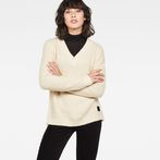 G-Star RAW® Vee Knit Beige model front