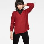 G-Star RAW® Vee Knit Red model front
