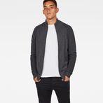 G-Star RAW® Suzaki Jirgi Zip Through Grey model front