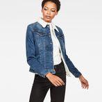G-Star RAW® 3301 Slim Sherpa Jacket Medium blue model front