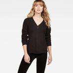G-Star RAW® Vee Knit Black model front