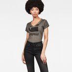 G-Star RAW® Suphe Slim V-Neck T-Shirt Grey model front