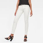 G-Star RAW® Lynn Mid Waist Skinny Jeans White