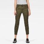 G-Star RAW® Rovic Mid Waist Skinny Cargo Pants Green model front