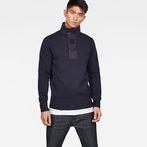 G-Star RAW® Bantson Zip Knit Dark blue model front