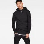 G-Star RAW® Omohundro Hooded Zip Knit Black model front