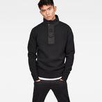 G-Star RAW® Bantson Zip Knit Black model front