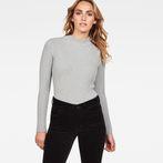 G-Star RAW® Lynn Mock Turtle Knit Grey model front