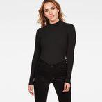 G-Star RAW® Lynn Mock Turtle Knit Black model front
