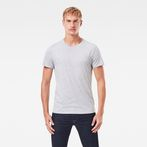 G-Star RAW® Base Heather T-Shirt 2-Pack Grey model front