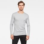 G-Star RAW® Base Round Neck Long Sleeve T-Shirt Grey model front