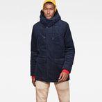 G-Star RAW® Vodan Teddy Padded Hooded Jacket Dark blue model front