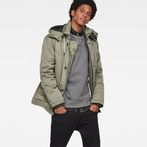 G-Star RAW® Vodan Caban Hooded Padded Jacket Green model front