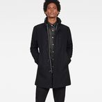 G-Star RAW® Garber Pm Wool Trench Dark blue model front