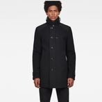 G-Star RAW® Garber Pm Wool Trench Black model front