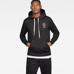 G-Star RAW® Graphic 16 Core Hooded Sweat Black model front