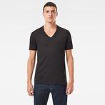 G-Star RAW® Base V-Neck T-Shirt 2-Pack Black model front