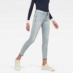 G-Star RAW® Lynn Mid Waist Skinny Ripped Ankle Jeans Light blue