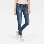 G-Star RAW® Lynn Mid Waist Skinny Ripped Ankle Jeans Medium blue