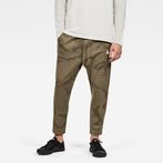 G-Star RAW® Rodis Camo Cropped Sweat Pants Brown model front