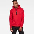 G-Star RAW® Graphic 34 Core Hooded Sweat Red model front
