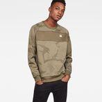 G-Star RAW® Rodis Camo Raglan Sweat Green model front