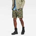 G-Star RAW® Rovic Zip Relaxed 1\2 Shorts Green model front