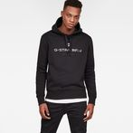 G-Star RAW® Graphic 34 Core Hooded Sweat Black model front