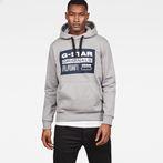 G-Star RAW® Loaq Core Hooded Sweat Grey model front