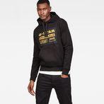 G-Star RAW® Loaq Core Hooded Sweat Black model front
