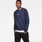 G-Star RAW® Loaq Core Sweat Dark blue model front