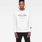 G-Star RAW® Graphic 33 Core Hooded Sweat White model front