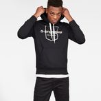 G-Star RAW® Graphic 33 Core Hooded Sweat Black model front