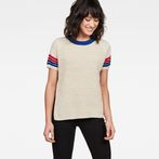 G-Star RAW® Suzaki Stripe Knit Beige model front