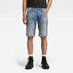 G-Star RAW® 3301 1/2-Length Shorts Light blue front flat