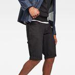 G-Star RAW® 3301 1/2 Shorts Black front flat