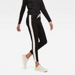 G-Star RAW® D-Staq Stripe Sweatpants Black model front