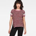 G-Star RAW® Suzaki Stripe Knit Red model front
