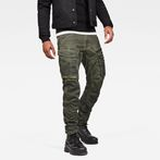 G-Star RAW® Rovic Zip 3D Straight Tapered Pants Green model front