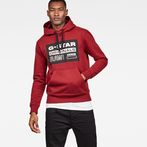 G-Star RAW® Loaq Core Hooded Sweat Red model front