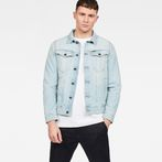 G-Star RAW® 3301 Deconstructed 3D Slim Jacket Medium blue model front