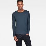 G-Star RAW® Base Round Neck Long Sleeve T-Shirt Medium blue model front
