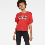 G-Star RAW® Rie Art T-Shirt Red model front