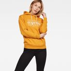 G-Star RAW® Rie Hooded Sweat Yellow model front