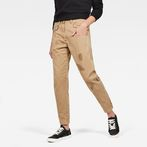 G-Star RAW® Bronson Mid Waist Skinny Ankle Trousers Brown model front